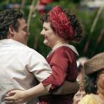 Jacob en Gaby dansend